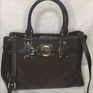 MICHAEL KORS HUDSON IN RICH EXPRESSO BROWN/GOLD